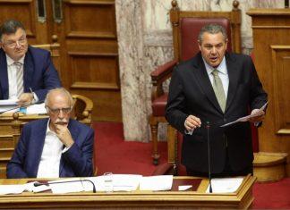 Στη Βουλή η απόφαση ΥΠΕΘΑ Καμμένου για αγορά όπλων