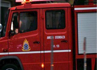 Φωτιά ξέσπασε σε υπόγειο στο κέντρο της Αθήνας