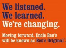 Έχοντας κατηγορηθεί ότι αναπαράγει ρατσιστικά στερεότυπα, η μάρκα Uncle Ben's αλλάζει όνομα