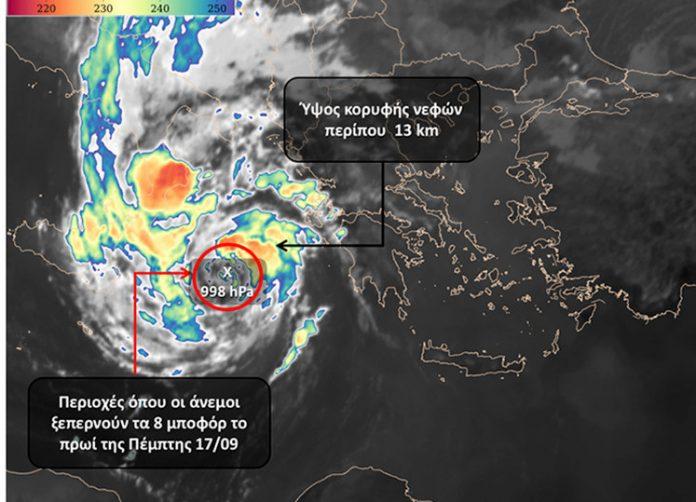 O «Ιανός» ενισχύεται και αποκτά χαρακτηριστικά Μεσογειακού Κυκλώνα, σύμφωνα με το meteo